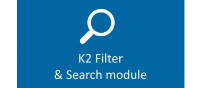 Joomla  Filter and Search for K2 Joomla разработка