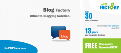 Joomla  Blog Factory Joomla разработка